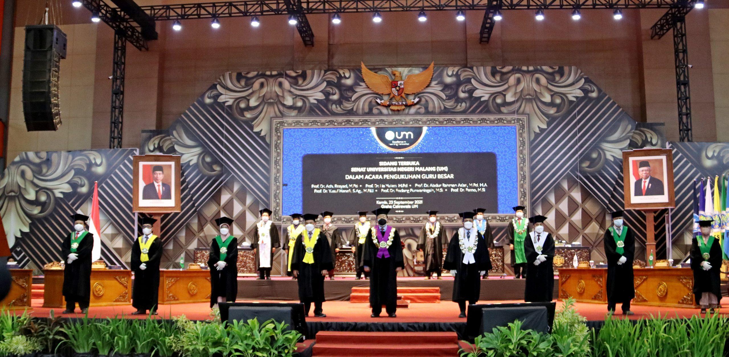 Photo of Pengukuhan 6 (enam) Guru Besar UM