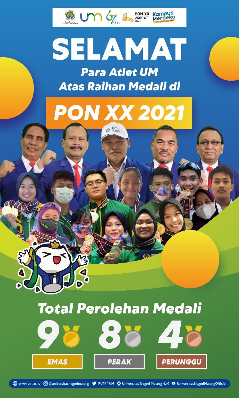 Photo of Keren! Mahasiswa FIK UM Raih 21 Medali pada Ajang PON XX Papua 2021